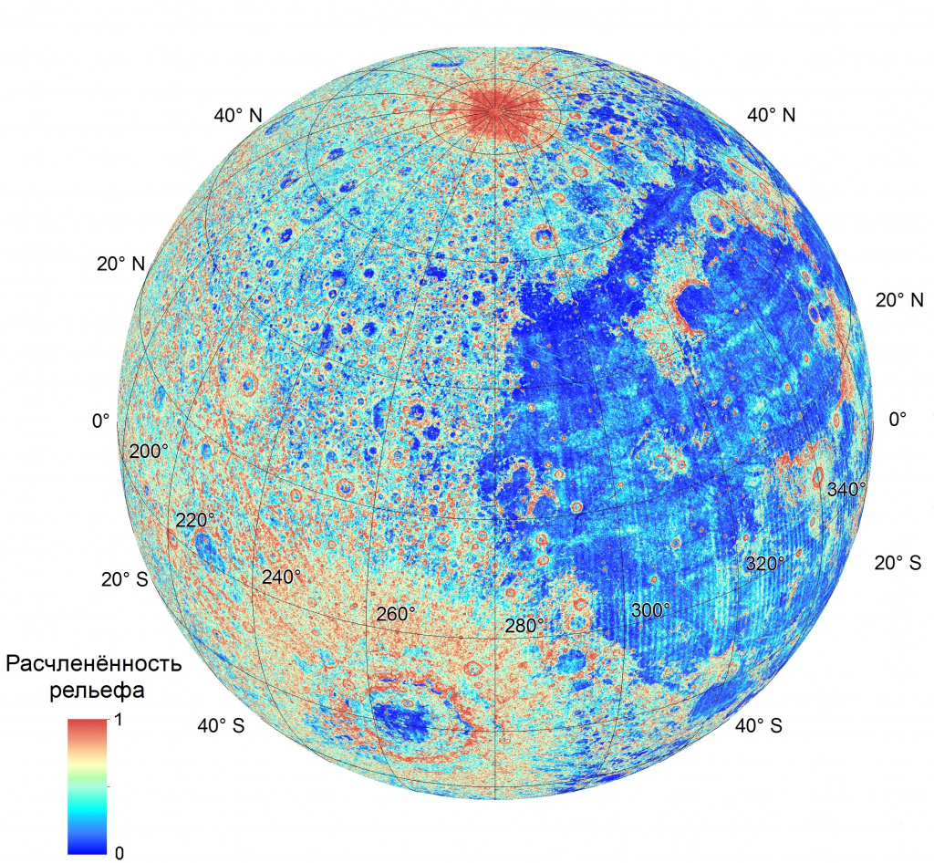 Map «Roughness Moon surface »